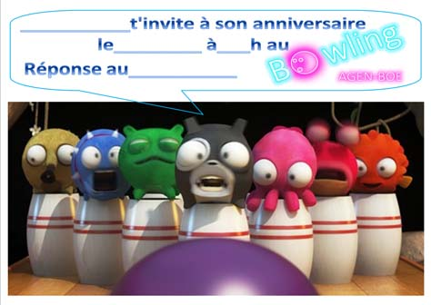 image anniversaire bowling